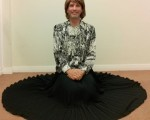 My exceptionally comfortable, stylish & very swishy black pleated maxi skirt.