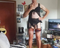 me in sexy lingerie