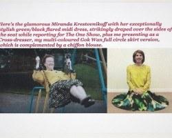 I present my exceptionally comfortable, stylish & very swishy midi skirt.