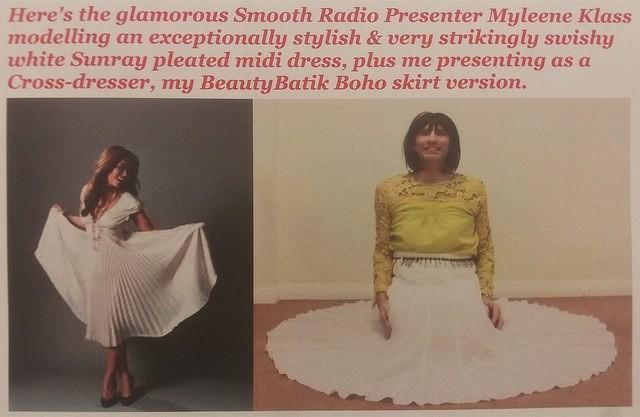 My exceptionally comfortable, stylish & very swishy midi skirt.