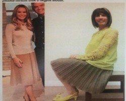 My exceptionally comfortable, stylish & very swishy pleated midi skirt.